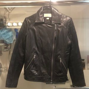Michael Kors Genuine Leather Jacket worn once
